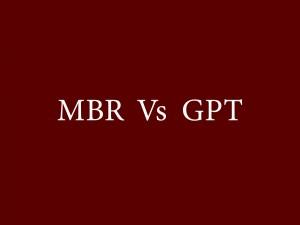 تفاوت MBR و GPT در هنگام پارتیشن بندی هارد