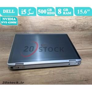 لپ تاپ استوک Dell مدل Latitude E6520 با رم 8 گیگابایت و کارت گرافیک انویدیا